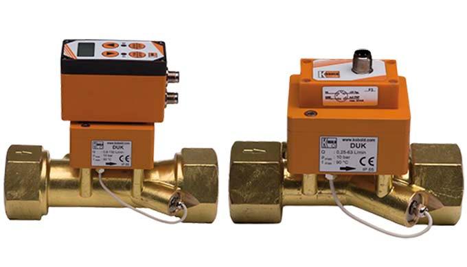 Messbereich: 0,08 - 20 ... 2,5 - 630 l/min Flüssigkeit Anschluss: G &frac12&#x3b; ... G 3 IG Material: Messing pmax: 16 bar t