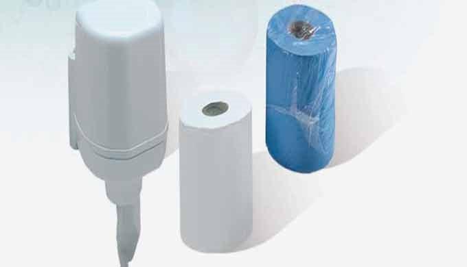 Bobina industrial de papel Seca manos doble capa (papel de celulosa industrial). De gran resistencia.