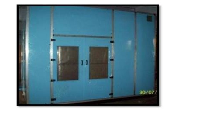 Acoustic enclosures for DG Sets, chillers, high CFM Blowers for noise reduction with rock wool / glass wool insulation m