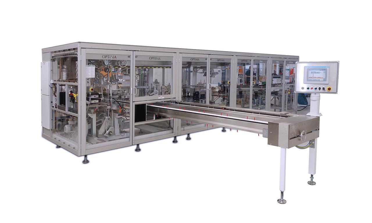 Die Beutel- und Verpackungsmaschine OPTIMA OS5 bietet eine neuartige Methode zur Verpackung von Tissuepapier in Polyethy