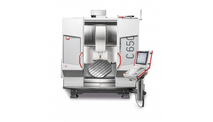 The C 650 uses a modification of Hermle's tried-and-tested gantry-type design, with a mineral-cast machine bed. The inte