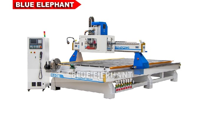 Features: 1. Different from 2040 Linear ATC Wood CNC Router Machine, this kind of machine was designed with carousel too