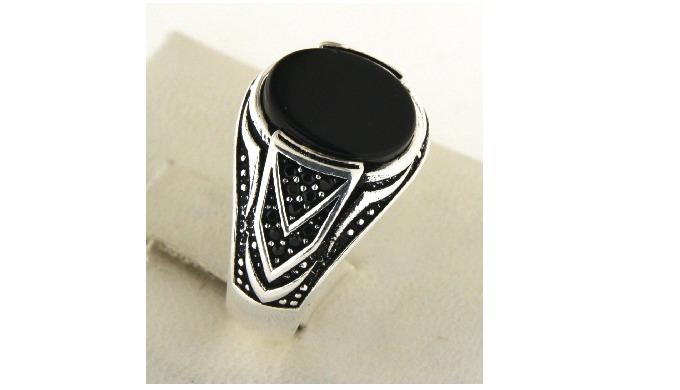925 Sterling Silver Man Ring