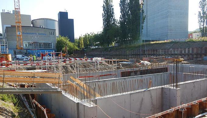 Grundsteinlegung Holzkraftwerk Aarberg