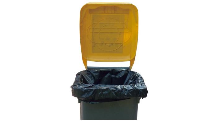 Housses pour containers 240L, en polyéthylène basse densité. Rouleaux prédécoupés avec liens de fermeture. Housses conçu