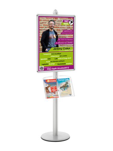 Communiquez, présentez et affichez vos catalogues et prospectus Utilisation pour l'aménagement de zones d'accueil et d'e