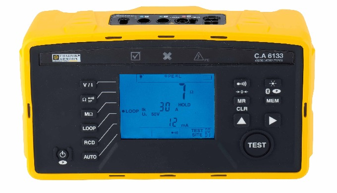 Designed for checking safety on electrical installations, the C.A 6131 and C.A 6133 testers can be used to test new inst