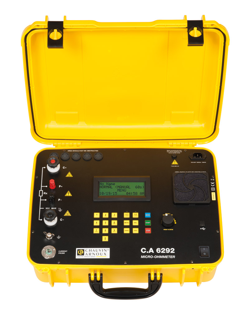 The C.A 6292 is supplied in a site-proof casing with clearly-identified connection terminals to limit the risk of errors