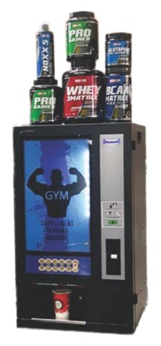 Supplement Vendor is our new vending machine for Fitness Centres and Gyms. Provides six different drinks which no other