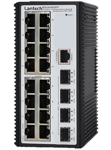 Switch Ethernet administrable 20 ports dont 4 ports fibre optique
