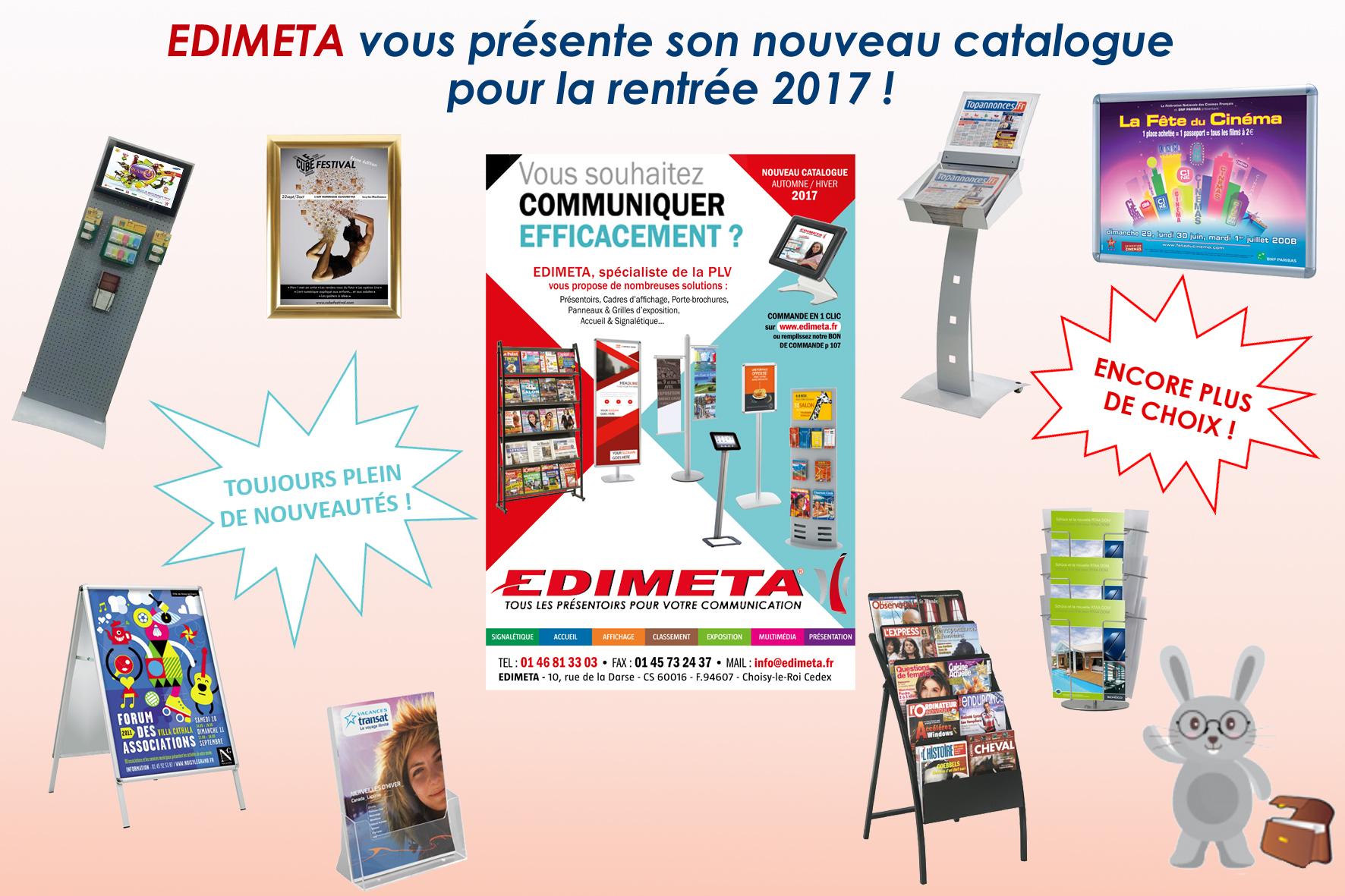 EDIMETA vous présente son nouveau catalogue 2017 pour la rentrée !