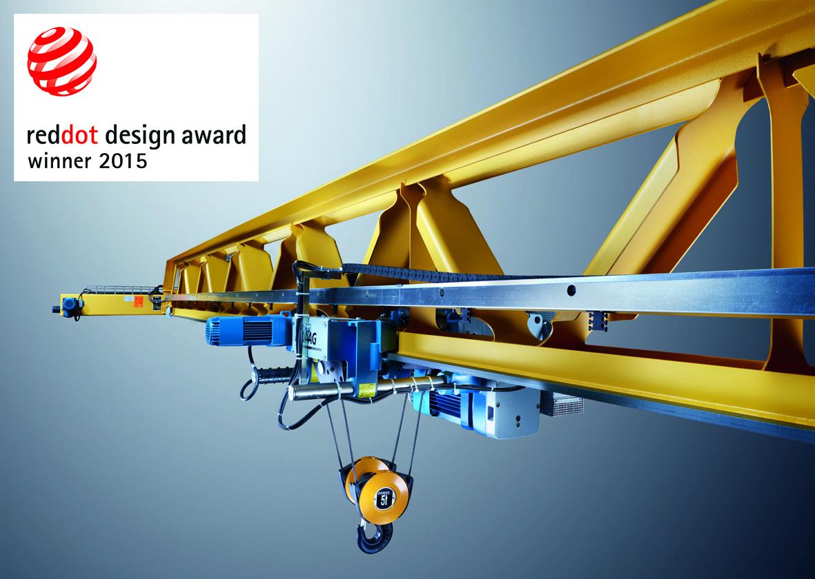 Demag V-type crane triumphs in Red Dot Awards