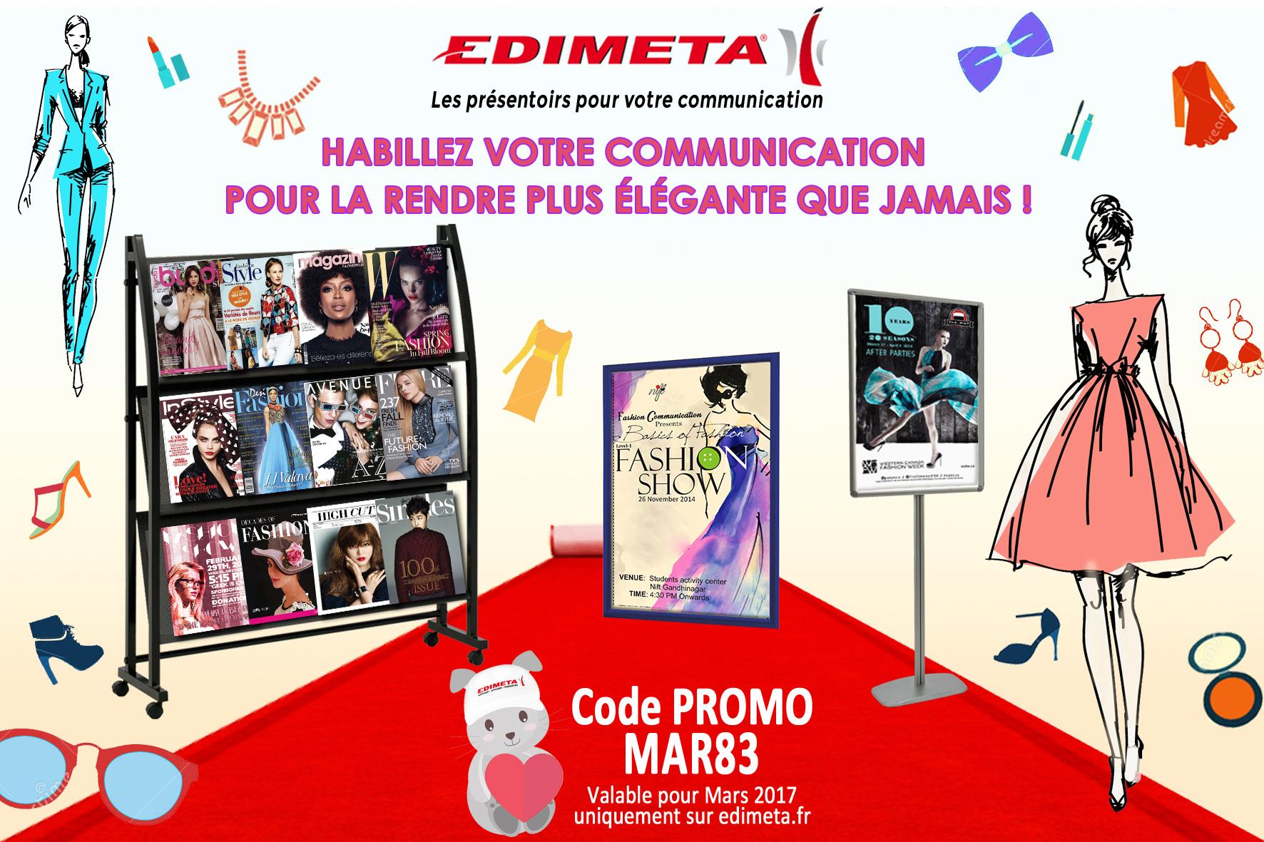 EDIMETA - Code promo pour Mars 2017