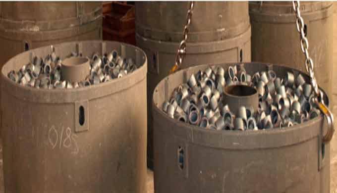 Tratamiento térmico: Recocido de piezas: Tratamiento a piezas de hornos de alta capacidad. Los recocidos de ablandamient