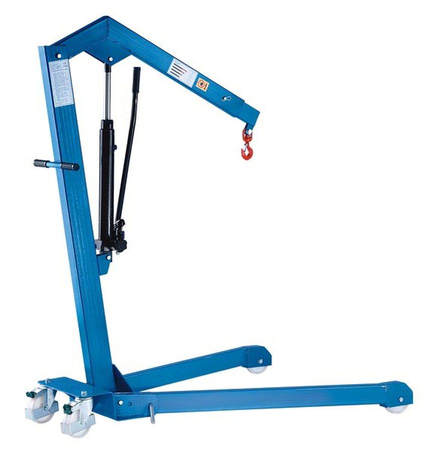 Tragfähigkeit 500 kg, Fahrgestell gespreiztMit einfach wirkender Hydraulik-Pumpe (Pumphebel in eine Richtung wirkend) od
