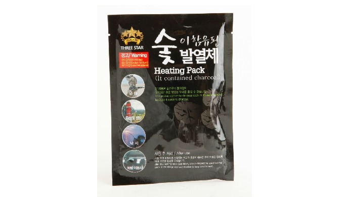 Heating pack containing charcoal As the heat source necessary for warming and cooking of all packed foods and dishes, ©T