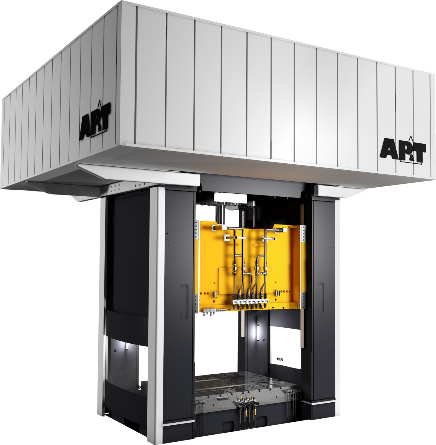 New innovation from AP&T: Servo hydraulic press with high performance and half the energy consumption