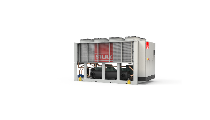 Air-cooled chillers with a cooling capacity from 370 up to 1260 kW.
