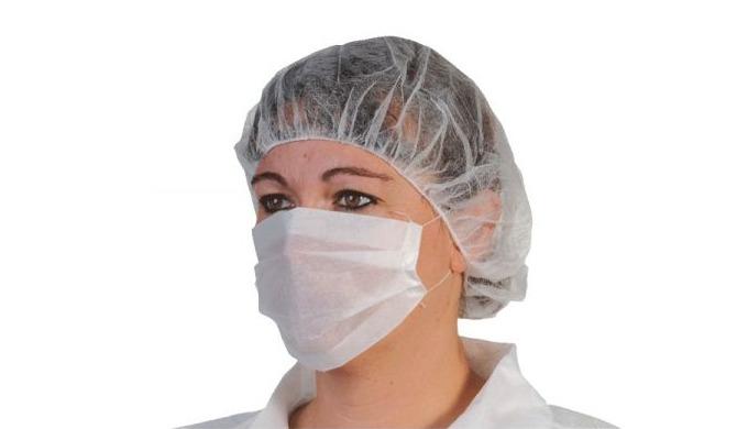 Masque papier 1 pli pouvant être utilisé en milieux de soins et hospitaliers, et agro-alimentaire.