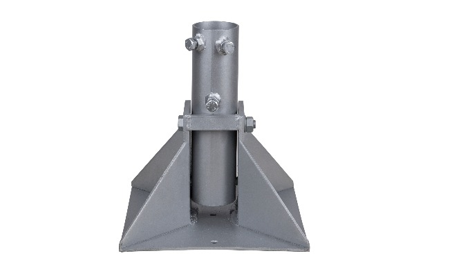 Easy montage and easy maintenance without installation of lightning rod. Material: Steel