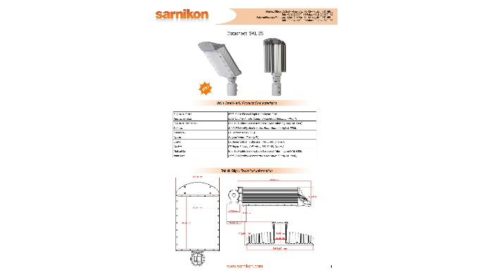SKL-28P Street Light Housing Set
