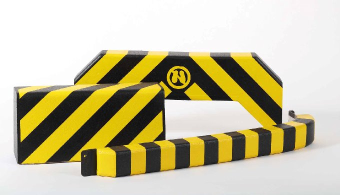 Safety bumpers are active collision cushions made of soft polyurethane foam with a special skin and integrated safety sw
