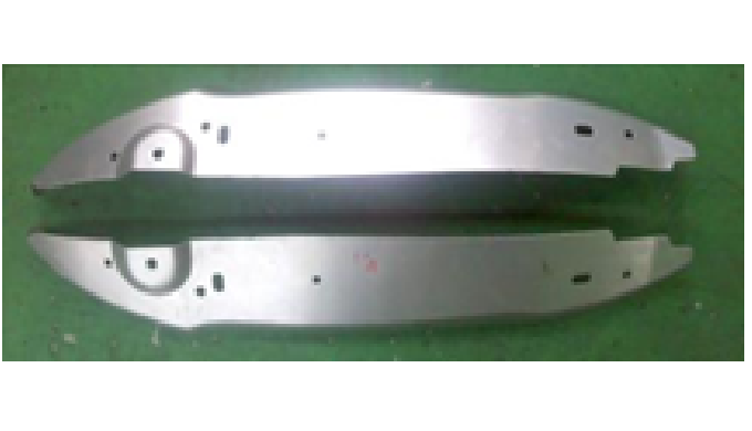Press stamping part for car body with aluminium.