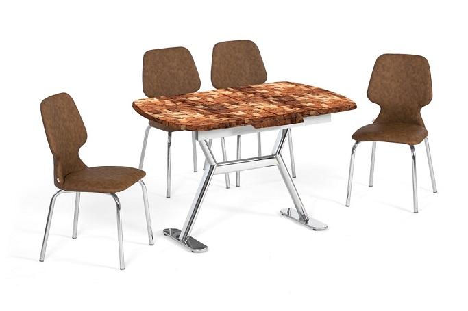 EN 944 Antique Wooden Dining Set