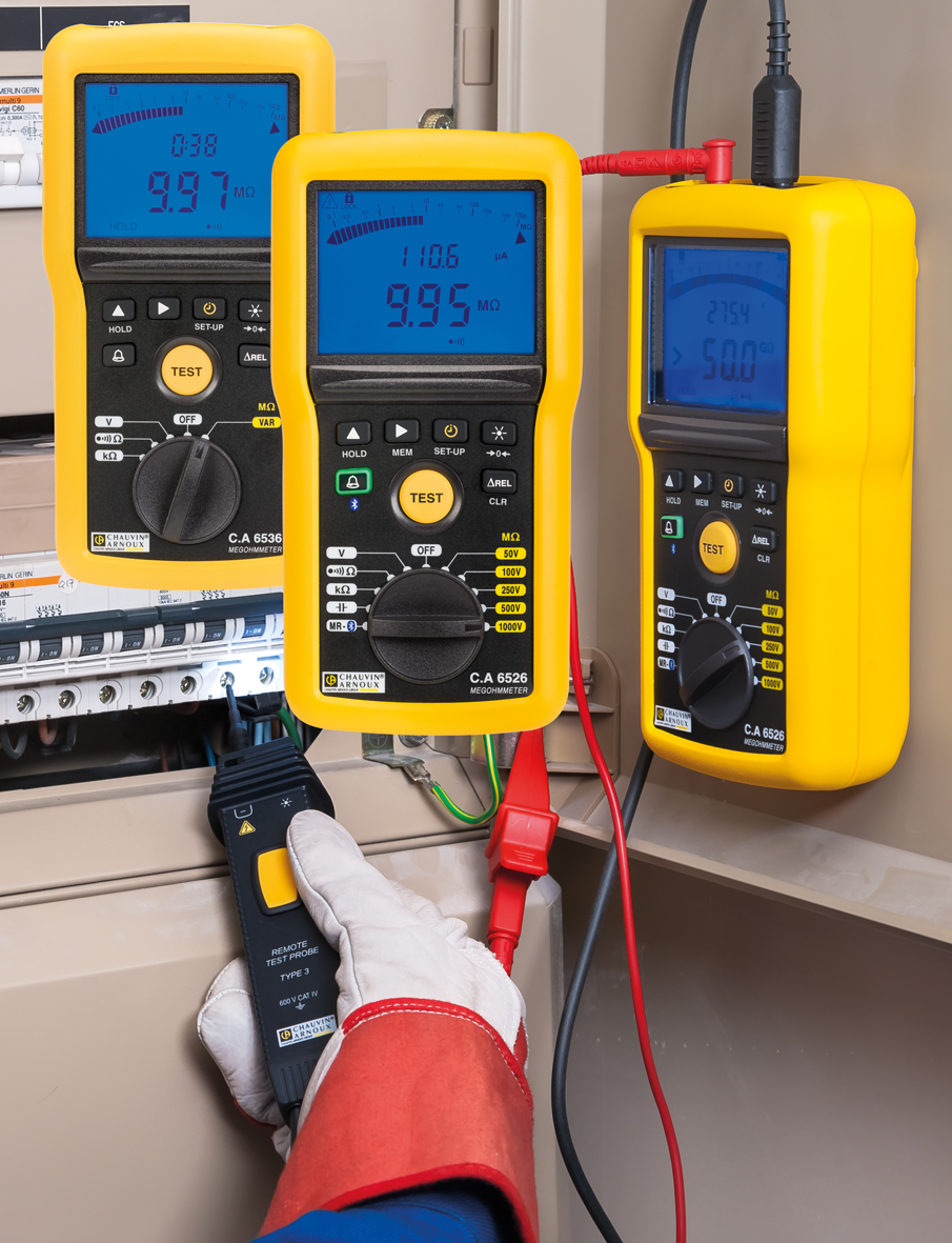New range of portable 1 kV megohmmeters