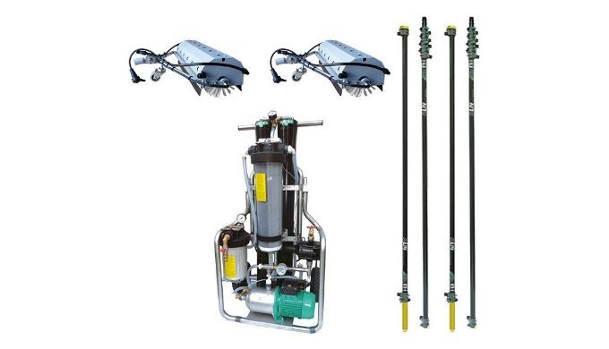 Ce kit comprend un RO60S de la marque Unger, deux RB24 SoWater compléte, les perches principales et leurs extensions à c