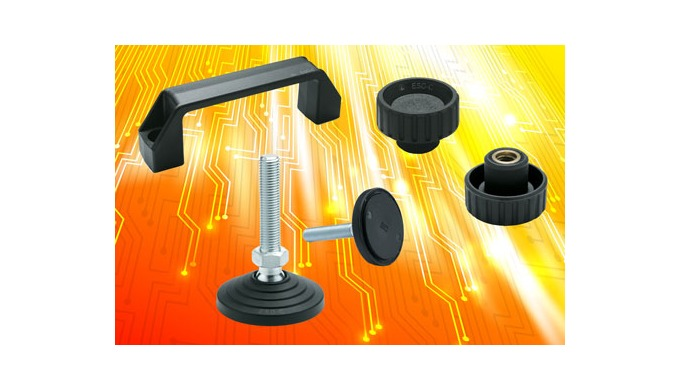 ESD grip knobs, bridge handles and levelling feet from Elesa prevent build-up of dangerous static charge and protect del