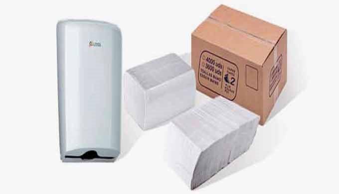 Toallas secamanos en tisú y papel reciclado de doble capa o una capa.  Disponibles en diversos tamaños.