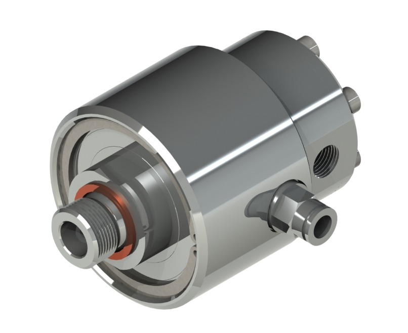 Rotating joint for high pressure and high speed Product characteristics: single inlet/outlet line rotor + housing, mater
