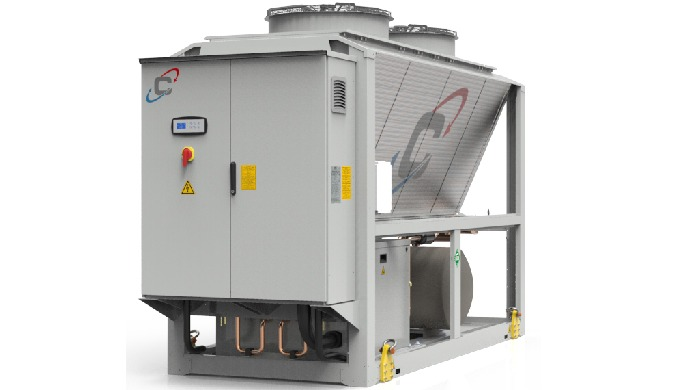 Liquid chiller air condensed, designed for industrial and process applications. WPAmini are chillers for outdoor install
