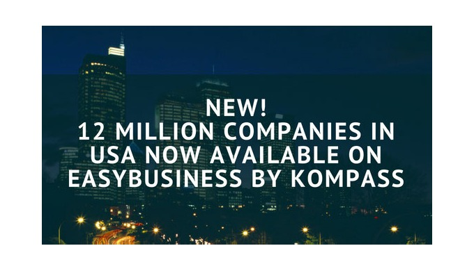 12 million companies in USA now available on EasyBusiness by Kompass