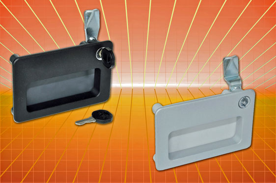Recessed pull handle with integral latch/lock