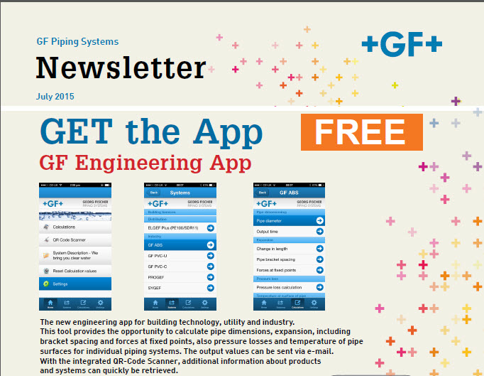 Get the App - GF Engineering App - FREE - July 2015