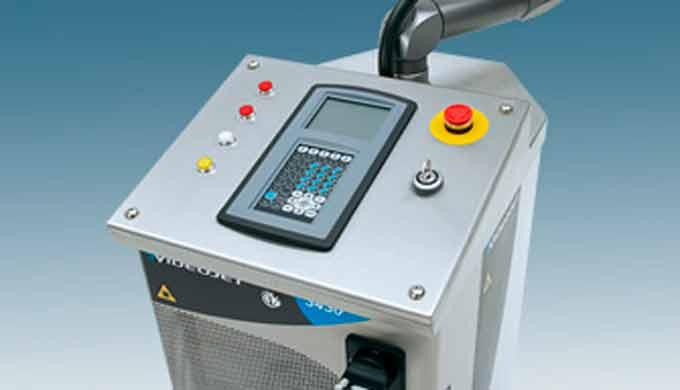MARCADO POR LASER (Láser de CO2 de alto rendimiento):  Videojet 3430