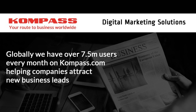 Kompass Digital Marketing Solutions will help your company attract new business leads. Using Kompass.com, our global onl