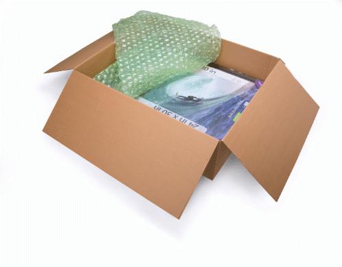Le film à bulles FastWrap est pré-perforé tous les 15 cm pour réduire le gaspillage et permettre à l'opérateur de n'u