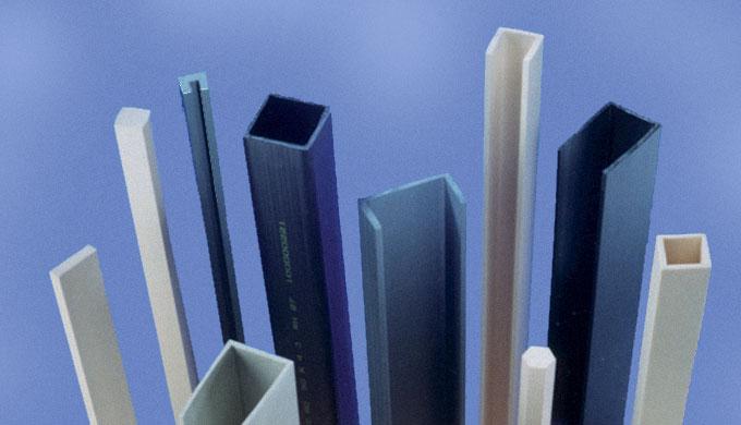 Profilé PVC rigide Gris