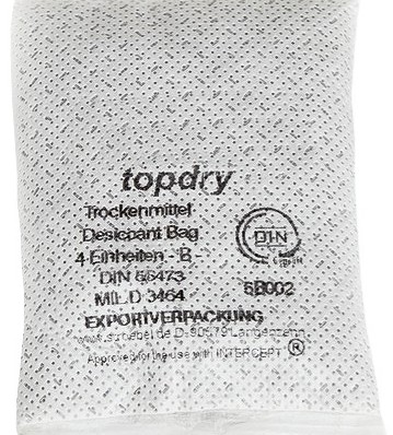 Valdamark TopDry ® desiccant bags are a patented formula which out-perform competitors products for nearly all moisture