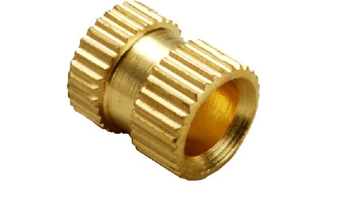 Brass Straight Knurl Molding Insert