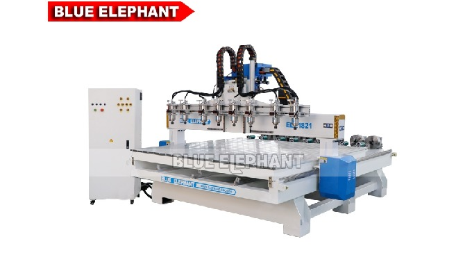 ELECNC-1821 Multi Spindles 4 Axis Woodworking Machinery with Rotary Devices