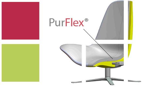 PurFlex®er et fleksibelt, brandhæmmende, MDI-baseret, polyurethan-skummateriale. Et formstabilt og let materiale, der op