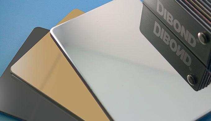Plaque sandwich Aluminium/PE miroir et métal - Dibond