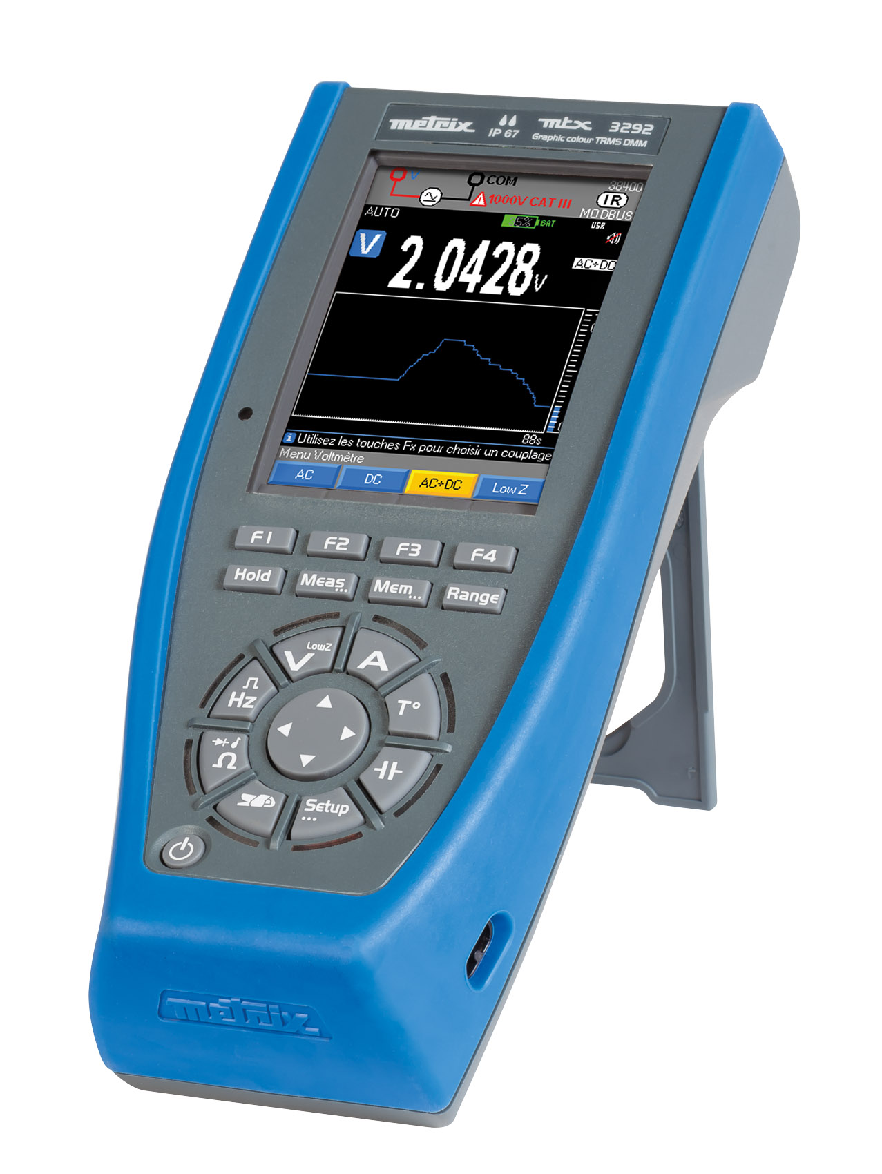 ASYC IV, the 1st multimeters with graphical colour screens