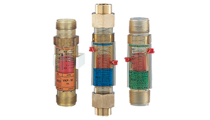 """Mess- / Schaltbereich: 2 - 20 ... 20 - 100 l/min Wasser 1 - 18 ... 10 - 75 l/min Öl Anschluss: G 1, 1"""" NPT AG, Lötrohr,"""