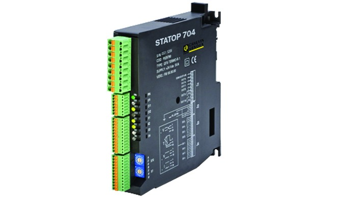 STATOP 704 is a multi-loop control system that controls four process loops in a completely independent manner. Configura