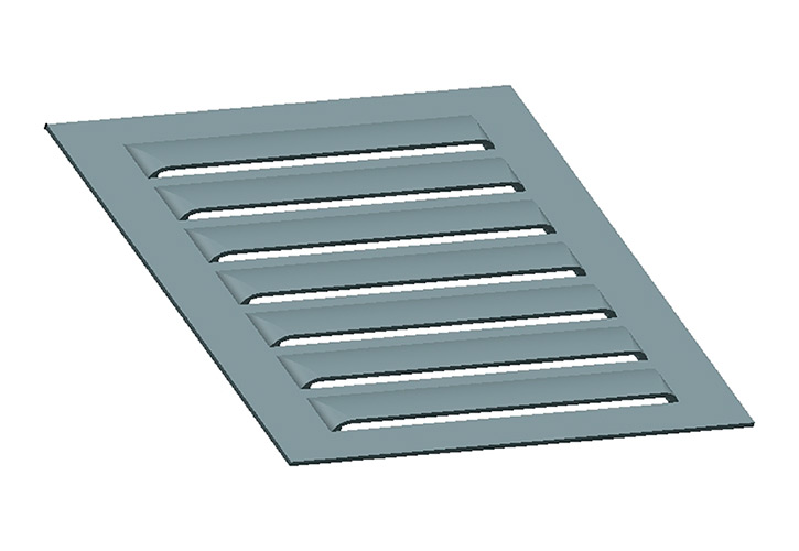 Utillajes y útiles especiales para fabricar rejillas de ventilación.